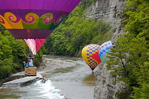 Flying the Garnd Canyon of the East ... Letchworth State Park in Castille, NY